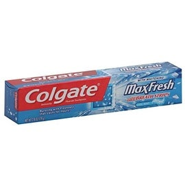 Colgate MaxFresh Whitening Toothpaste With Mini Breath Strips Clean Mint, 2.8 oz