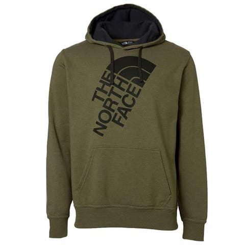 The North Face Men's Fleece Jumbo Half Dome Logo Graphic Hoodie Green