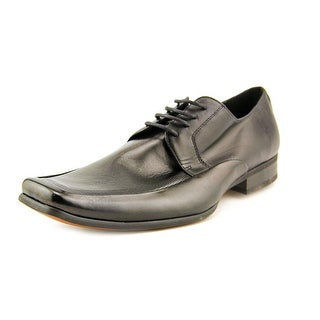 Steve Madden Melvil Men Square Toe Leather Black Oxford
