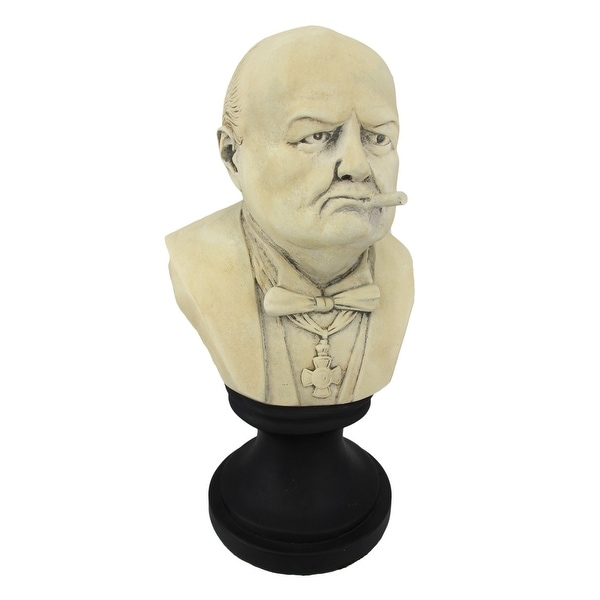 99ea7fc8c7451 Shop Ceramic Winston Churchill with Cigar Bust - 12.75 X 7 X 6 ...