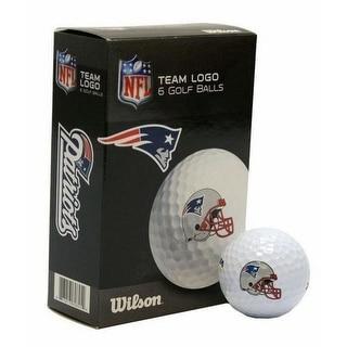 Wilson NFL New England Patriots Golf Balls Team Logo Wilson Ultra 500 6 Pack