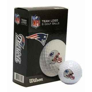 Wilson NFL New England Patriots Golf Balls Team Logo Wilson Ultra 500 6 Pack