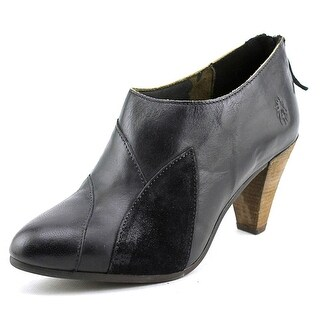Fly London Goja Women Pointed Toe Leather Black Ankle Boot