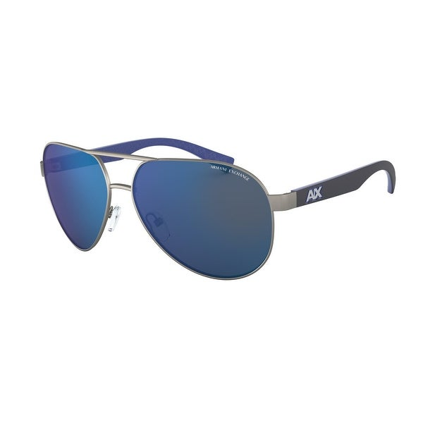 Armani Exchange AX2031S 608855 60 Matte Gunmteal Man Pilot Sunglasses. Opens flyout.