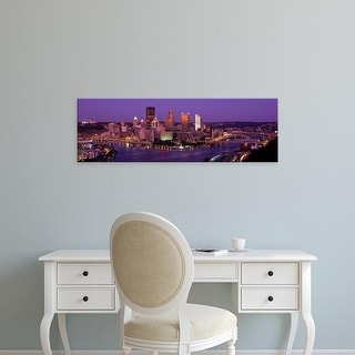 Easy Art Prints Panoramic Images's 'Dusk Pittsburgh PA USA' Premium Canvas Art