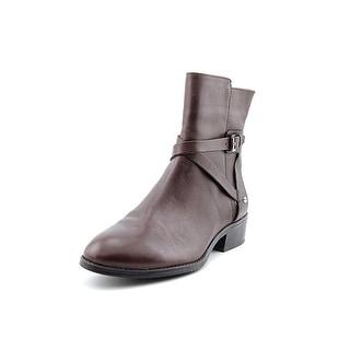 Lauren Ralph Lauren Marisol Women Round Toe Leather Black Ankle Boot
