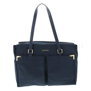 Calvin Klein Womens Tote Handbag Organizational Signature - Large
