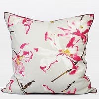 "G Home Collection Luxury Red Flower Printing Pillow 20""X20"""