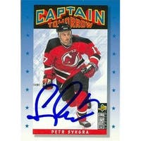 Petr Sykora Autographed Hockey Card New Jersey Devils 1996 Upper