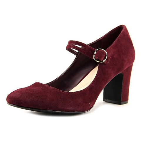 Alfani Womens Hillaree Leather Closed Toe Ankle Strap Mary Jane Pumps