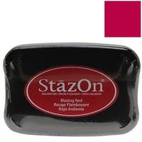 Tsukineko StazOn Ink Pad For Stamps - Blazing Red Color