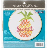"""Sweet Pineapple Counted Cross Stitch Kit-6"""" 14 Count"""