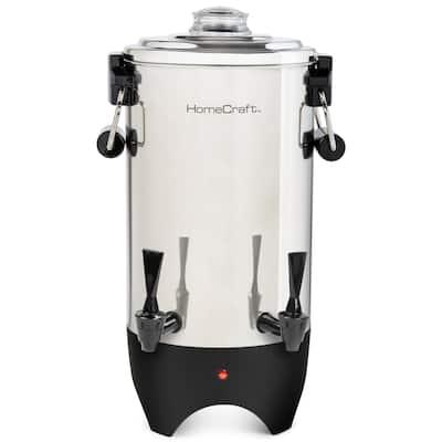 HomeCraft CUDS45SS Quick-Brewing 1000-Watt Automatic 45-Cup Coffee Urn, Stainless Steel