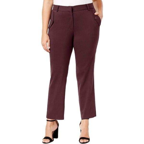Shop NY Collection Merlot Red Women\'s Size 2X Plus Stretch Dress ...