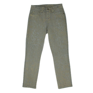 Miraclebody by Miraclesuit Womens Sandra D Metallic Coated Ankle Jeans