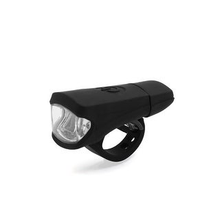 Father  s Day Gift l Universal Black White Light 3 Mode LED USB Rechargeable Bike Headlight