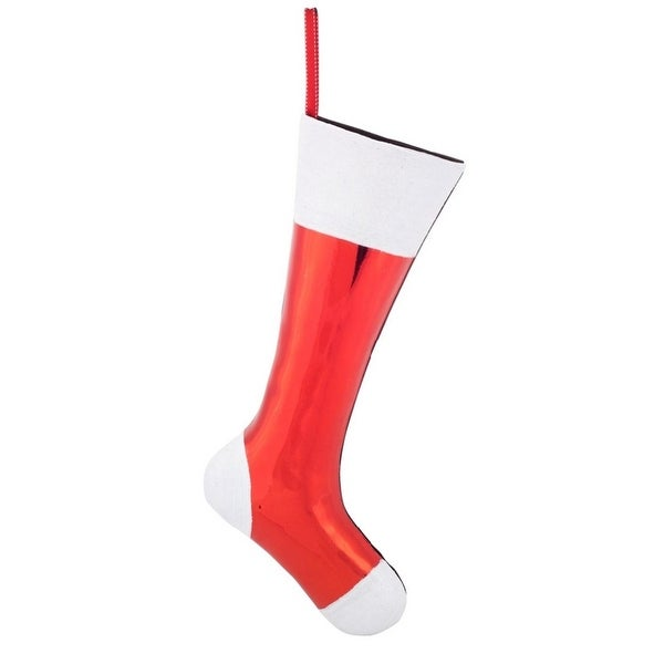 """Pack of 2 Red and White Stocking Container Christmas Decorations 22"""""""