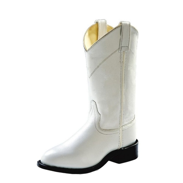 Old West Cowboy Boots Womens Corona Roper Neolite White