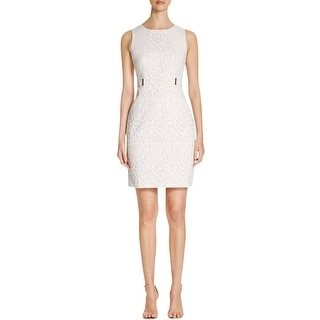 Calvin Klein Womens Wear to Work Dress Jacquard Animal Print