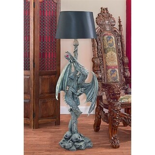 Design Toscano Deathsgate Marsh Dragon Sculptural Floor Lamp