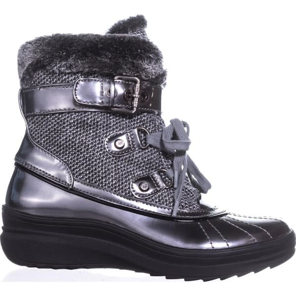 release date low price better Shop Anne Klein Gallup Snow Boots, Grey Multi - On Sale - Free ...