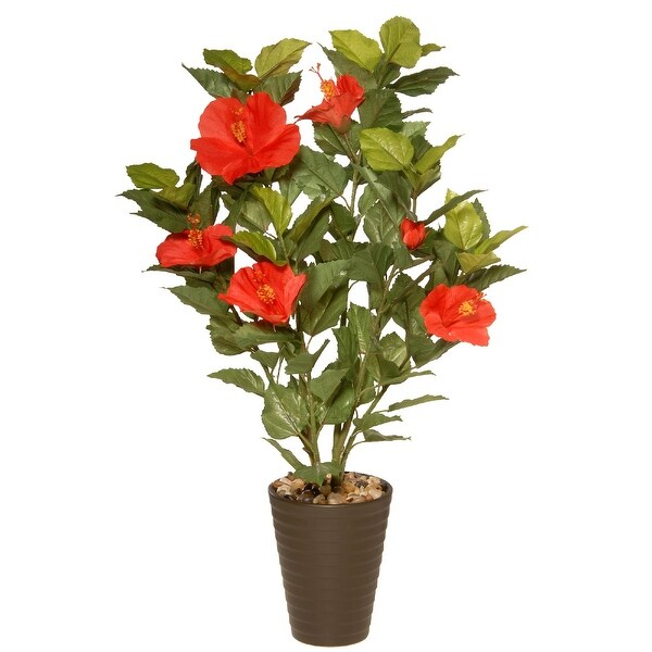 """22"""" Potted Hibiscus Artificial Plant - N/A"""