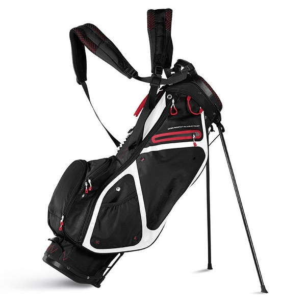 Sun Mountain 2018 3.5 LS (No Logo) Stand Bag - Black / White / Red -CLOSEOUT - Black / White / Red