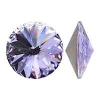 Swarovski Crystal, 1122 Rivoli Fancy Stones 12mm, 4 Pieces, Violet Sf