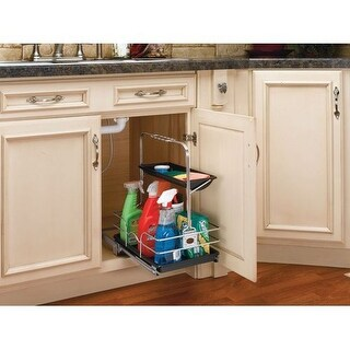 Rev-A-Shelf 544-10C-1 544 Series Removable Under Sink Caddy with Carrying Handle