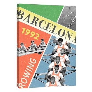 "PTM Images 9-109127  PTM Canvas Collection 10"" x 8"" - ""Barcelona Rowing 1992"" Giclee Sports and Hobbies Art Print on Canvas"