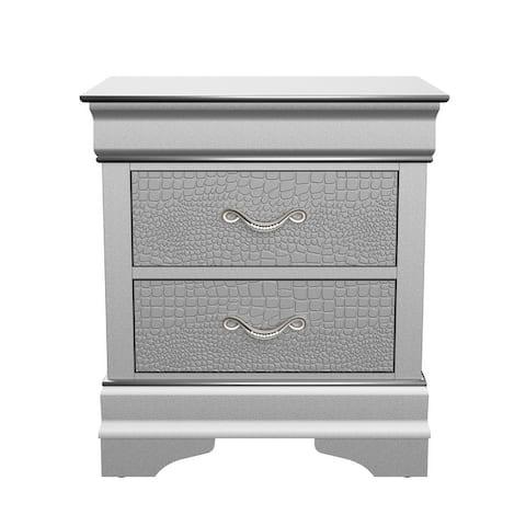 Global Furniture USA Verona Silver Nightstand