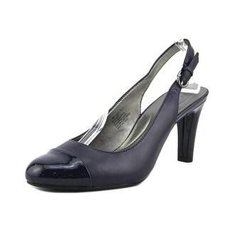 Bandolino Levani Women  Round Toe Leather Blue Slingback Heel