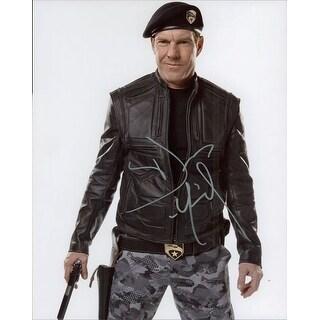 Signed Quaid Dennis GI Joe The Rise of Cobra 8x10 Photo autographed