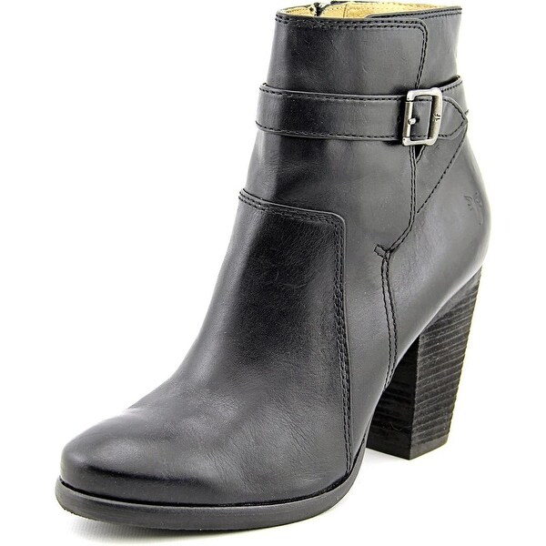 Frye Patty Riding Bootie Women Round Toe Leather Black Ankle Boot