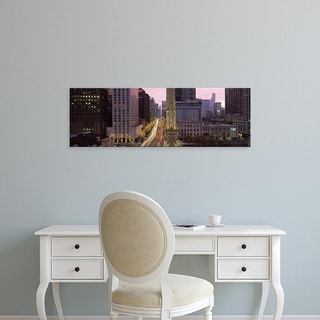 Easy Art Prints Panoramic Image 'Buildings in a city, Michigan Avenue, Chicago, Cook County, Illinois, USA' Canvas Art