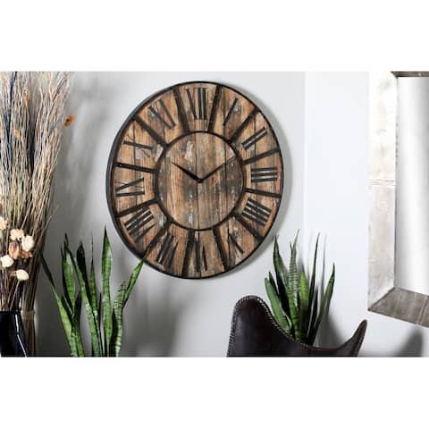 Carbon Loft Daffodil Black and Brown 36-inch Clock