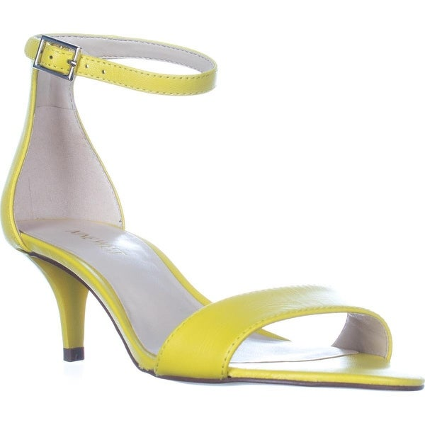 Nine West Leisa Ankle Strap Sandals, Yellow Leather