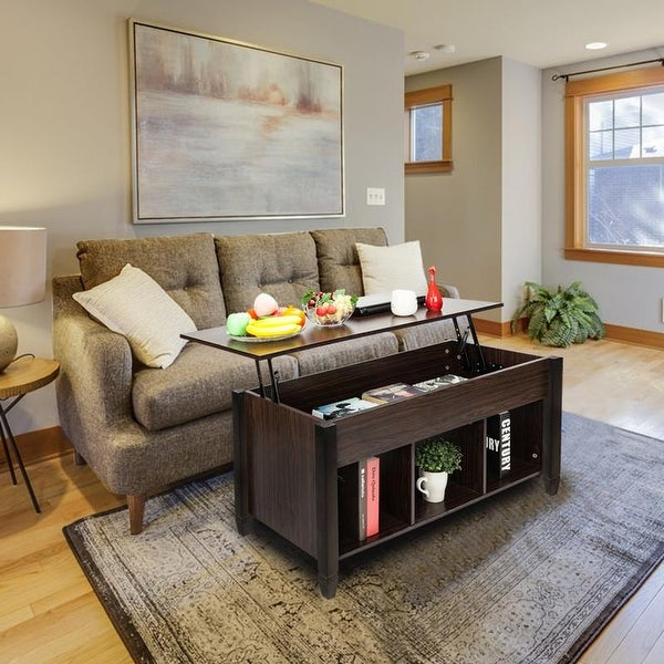 Living Room Furniture Lift Top Storage Coffee Table