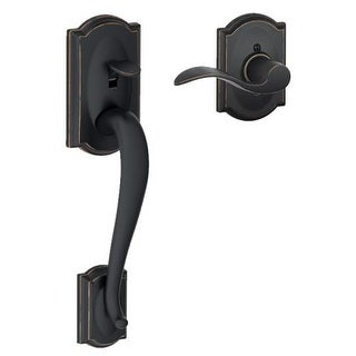 Schlage FE285-CAM-ACC-CAM-RH Camelot Lower Handle Set for Electronic Keypad with Right Handed Accent Interior Lever and