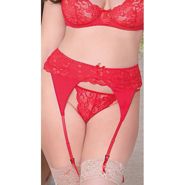 f3e1bc445766 Shop Plus Size Scalloped Lace Thong, Plus Size Sheer Lace Thong - Free  Shipping On Orders Over $45 - Overstock - 18025265
