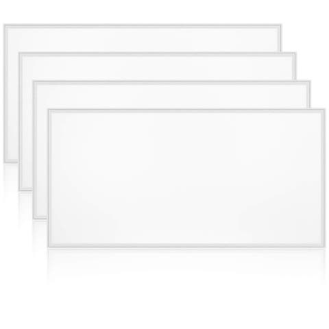 Luxrite 2x4 FT LED Flat Panel Light, 72W, 0-10V Dimmable, 24x48 Inch LED Light Panel, UL Listed, 4-Pack