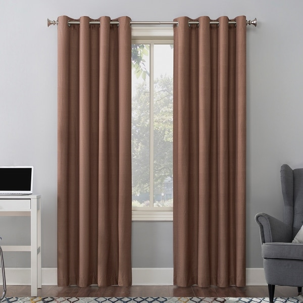 Sun Zero Duran Thermal Insulated Total Blackout Grommet Curtain Panel. Opens flyout.