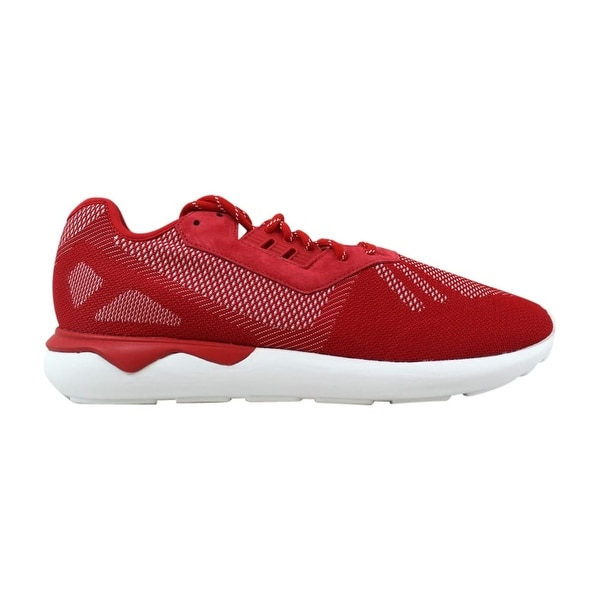 super popular 42783 42774 Adidas Tubular Runner Weave Scarlet Red White Men  x27 s B25597 Size 11