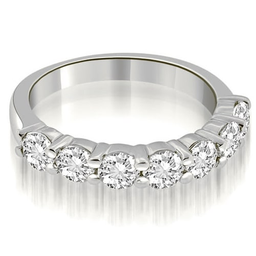 1.05 cttw. 14K White Gold Classic Round Cut Diamond Wedding Band