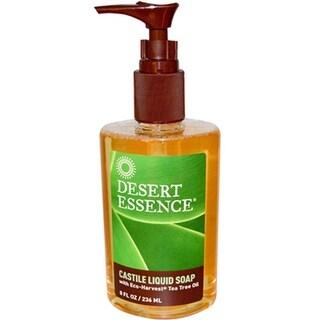 Desert Essence - Castile Liquid Soap With Organic Tea Tree Oil ( 3 - 8 FZ)