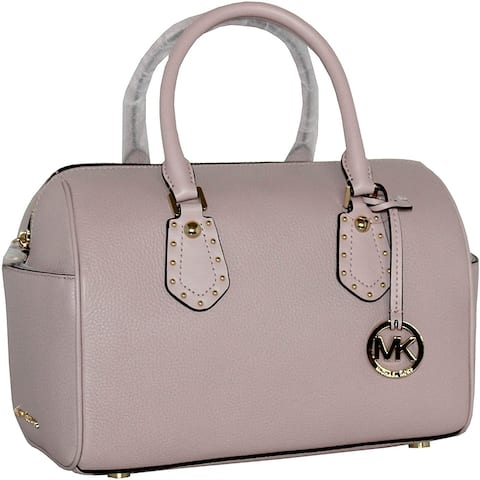 MICHAEL Michael Kors Women's ARIA MEDIUM Leather Satchel Studded Handbag (Blossom)