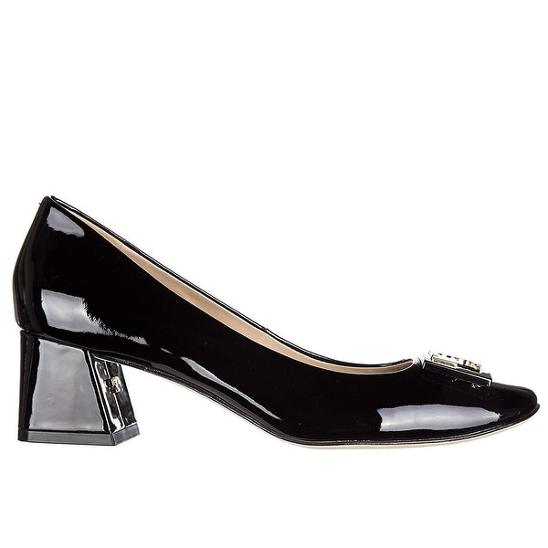 918e4a8099b0 Shop Tory Burch Gigi 50mm Women s Black Patent Leather Pump - 8 - Free  Shipping Today - Overstock - 27657081