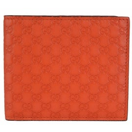 Gucci 365466 Orange Leather Limited Edition GG Guccissima Bifold Wallet