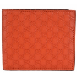 New Gucci 365466 Orange Leather Limited Edition GG Guccissima Bifold Wallet