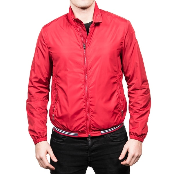 Moncler Men's Dany Lightweight Ribbed Sports Jacket Red